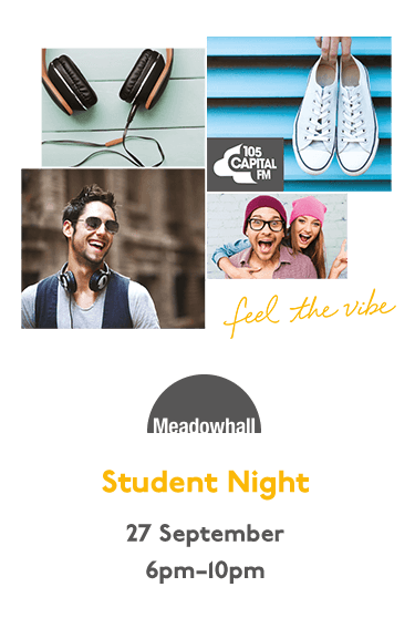 Student Night - 27th September - 6pm until 10pm